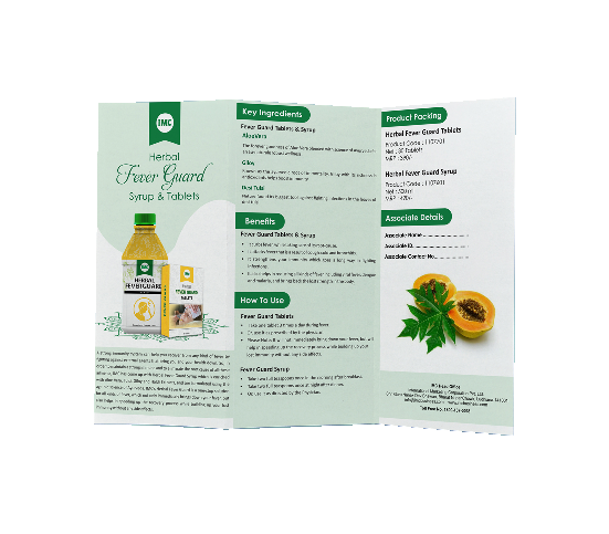 LEAFLET FEVER GUARD SYRUP AND TABLETS